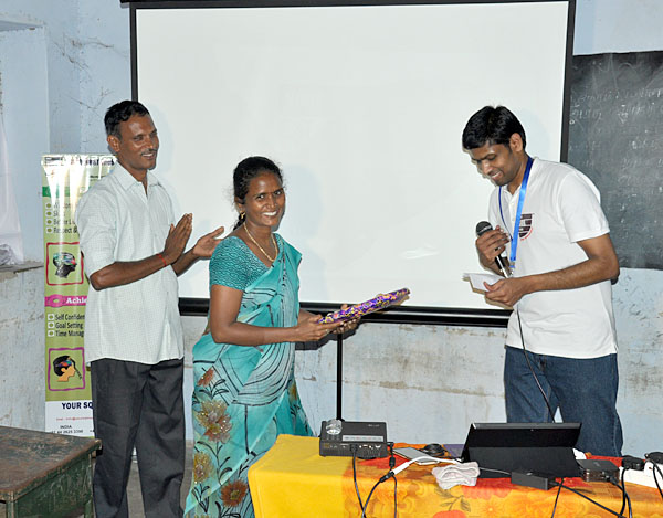 Appreciation given to teacher who provided support for the successful delivery of this DataAP programme.
