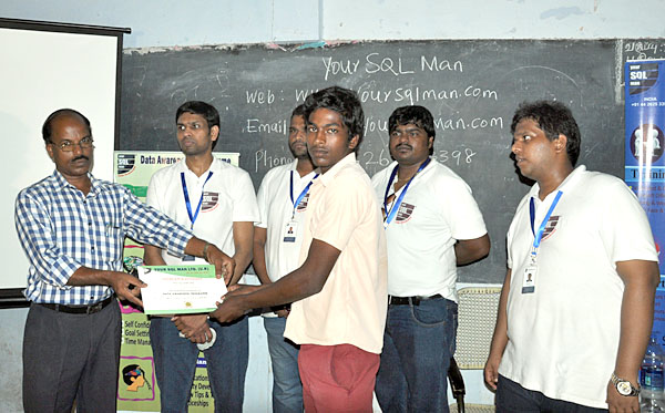 Participation Certificates for Kadaladi School Students