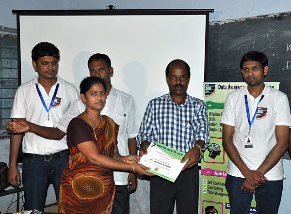 Participation Certificates for Teachers at Kadaladi School