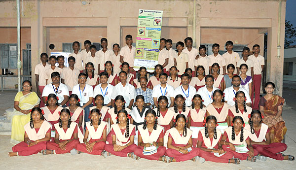 Your SQL Man Ltd team members with the attendees of School students, Volunteers, Head Master & Teachers.