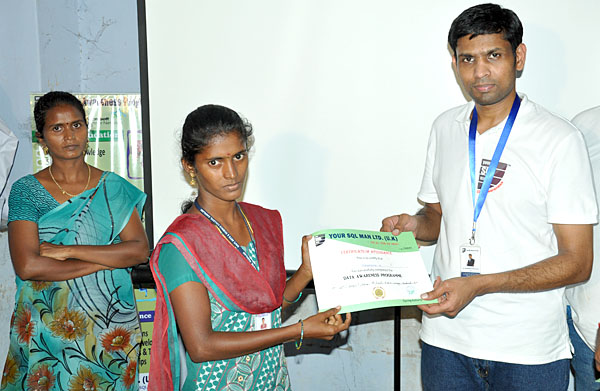 Participation certificate issued to Students by Dr.Subramani Paramasivam
