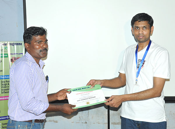 Participation certificate issued to Teacher by Dr.Subramani Paramasivam