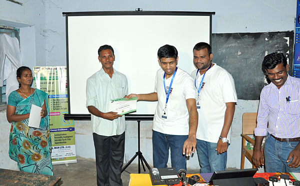 Participation certificate issued to main Volunteer by Dr.Subramani Paramasivam