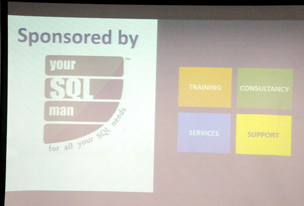 A slide in Data Awareness Programme sponsored by Your SQL Man Ltd