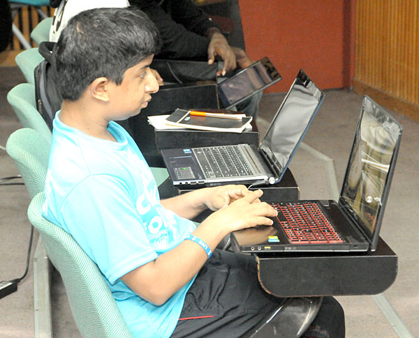 Student doing HANDS-ON lab Session