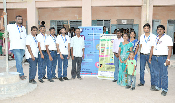 Kadaladi Arts & Science College Teachers & Volunteers with Your SQL Man Ltd Team members