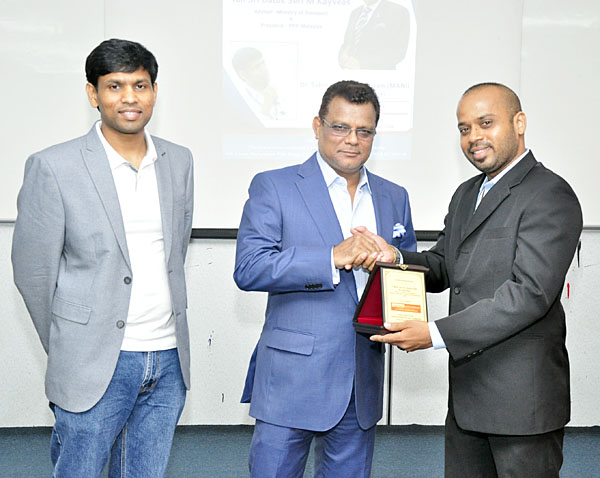 Appreciation Award to Tan Sri Datuk Seri M Kayveas